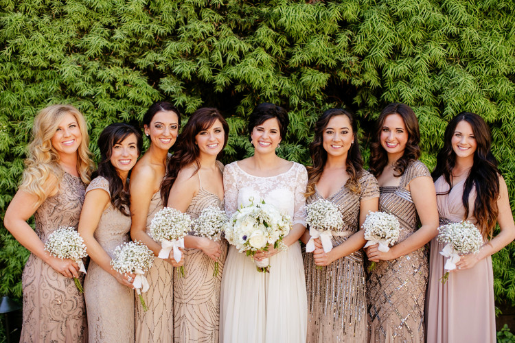 Adrianna Pappell Wedding Dresses. Sequin bridesmaids dresses. Adrianna Pappell bridesmaid dresses.