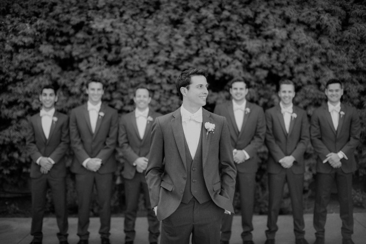 Groomsmen style at Franciscan Gardens