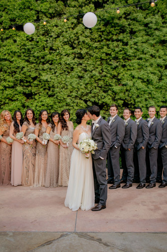 Bridal party at Franciscan Gardens