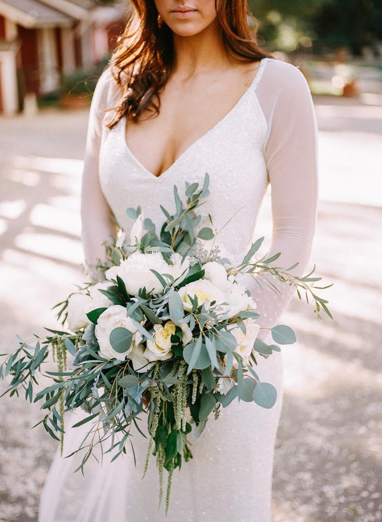 Large organic bridal bouquet