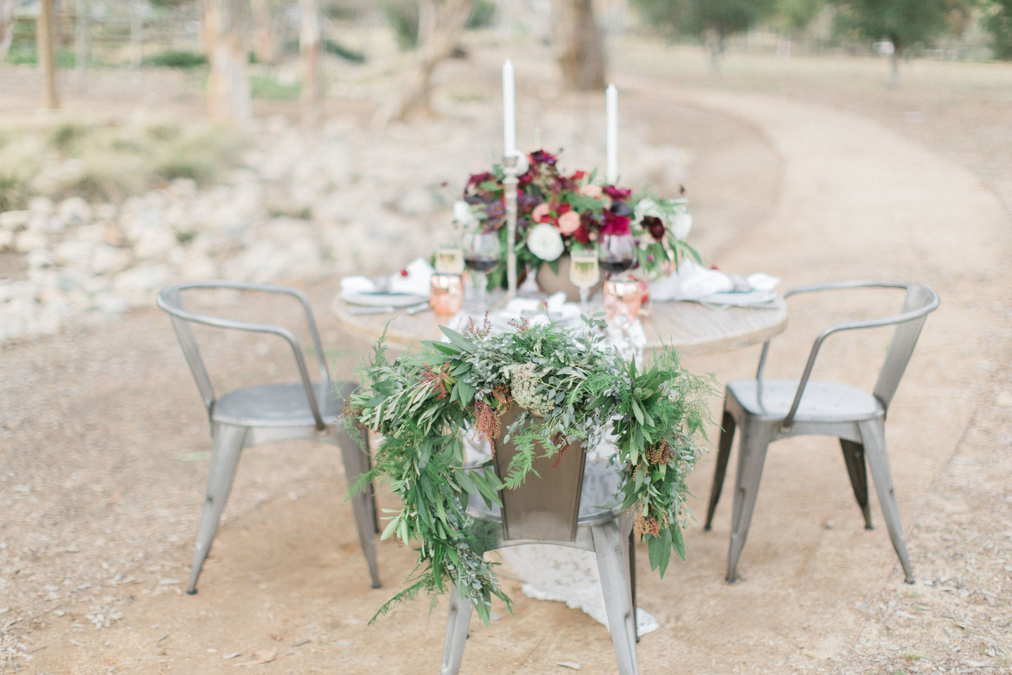 Romantic wedding table