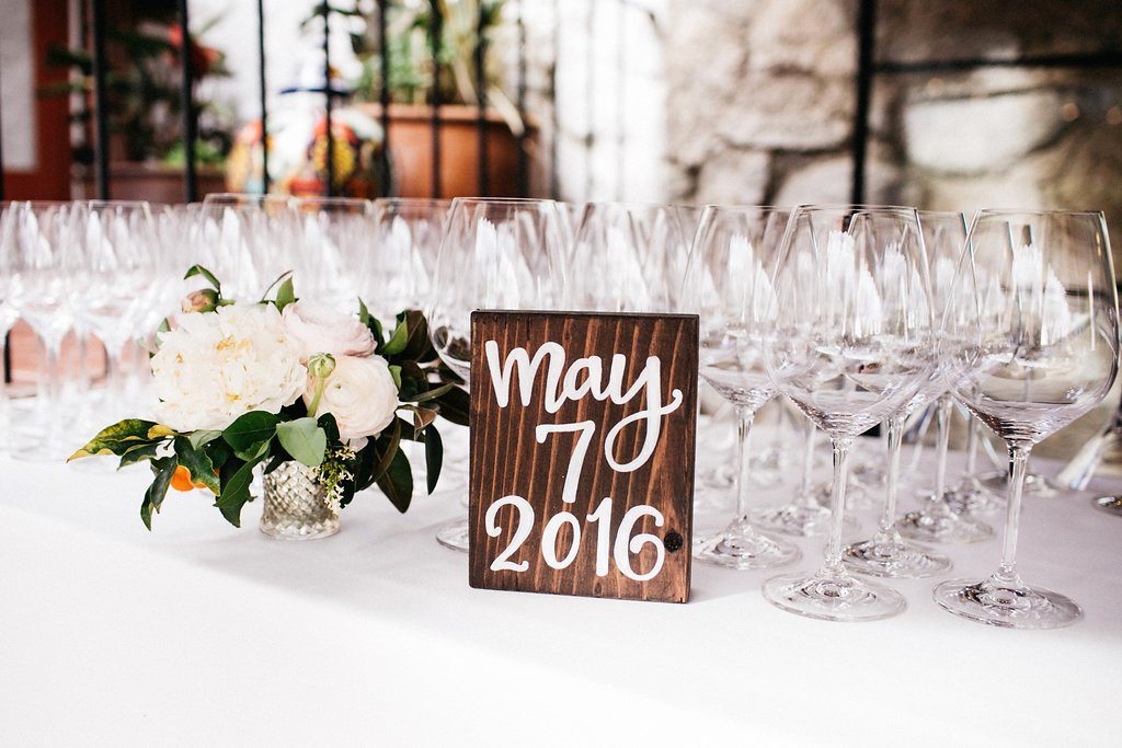 Calligraphy Wooden Sign Bar Wedding