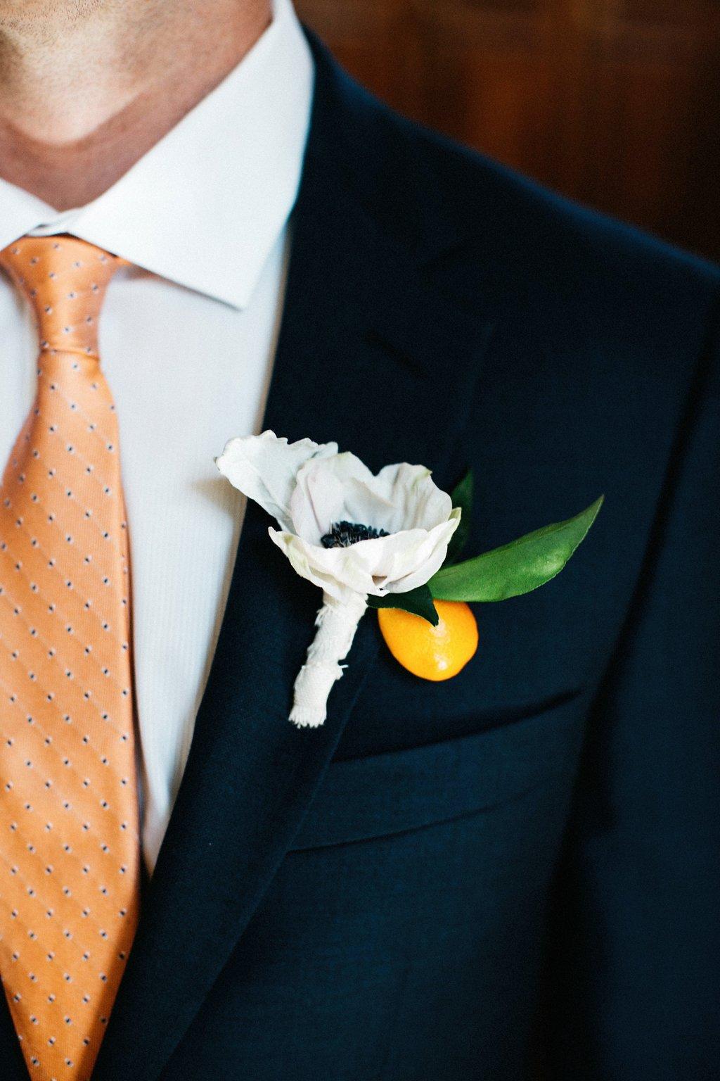 Citrus orange boutonniere