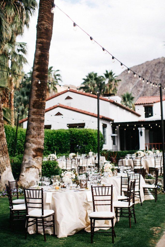 Citrus wedding tablescape