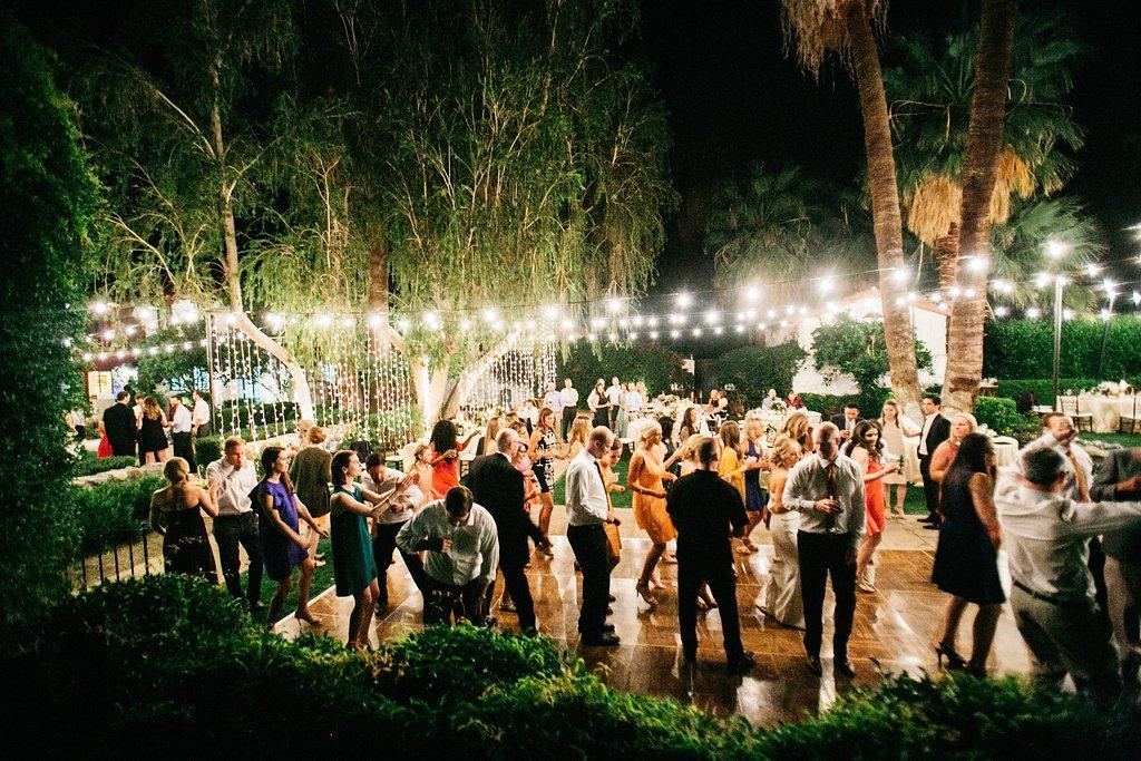 Outdoor La Quinta Wedding at Tradition Golf Club with Bistro Lights