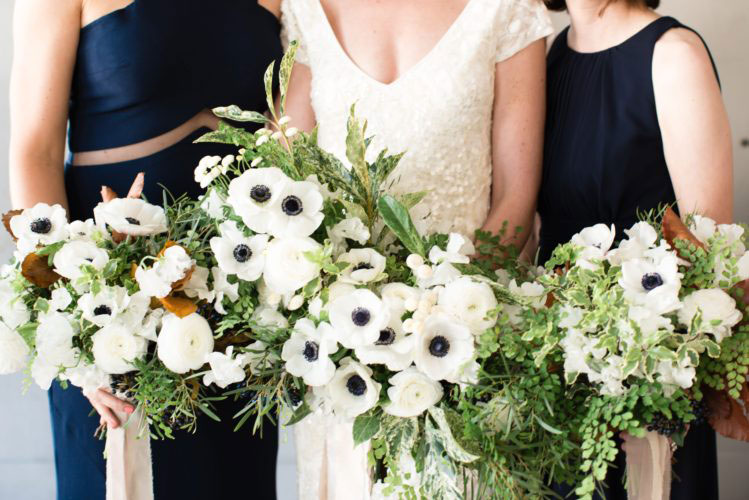 Navy dresses bridal party