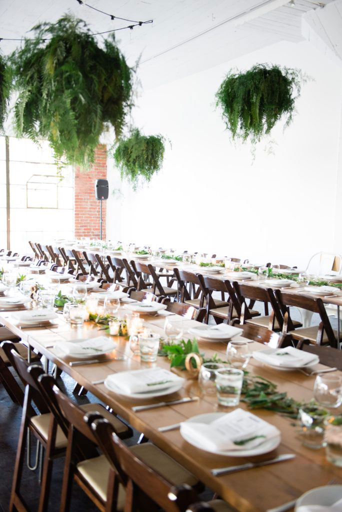 hudson loft wedding table setting