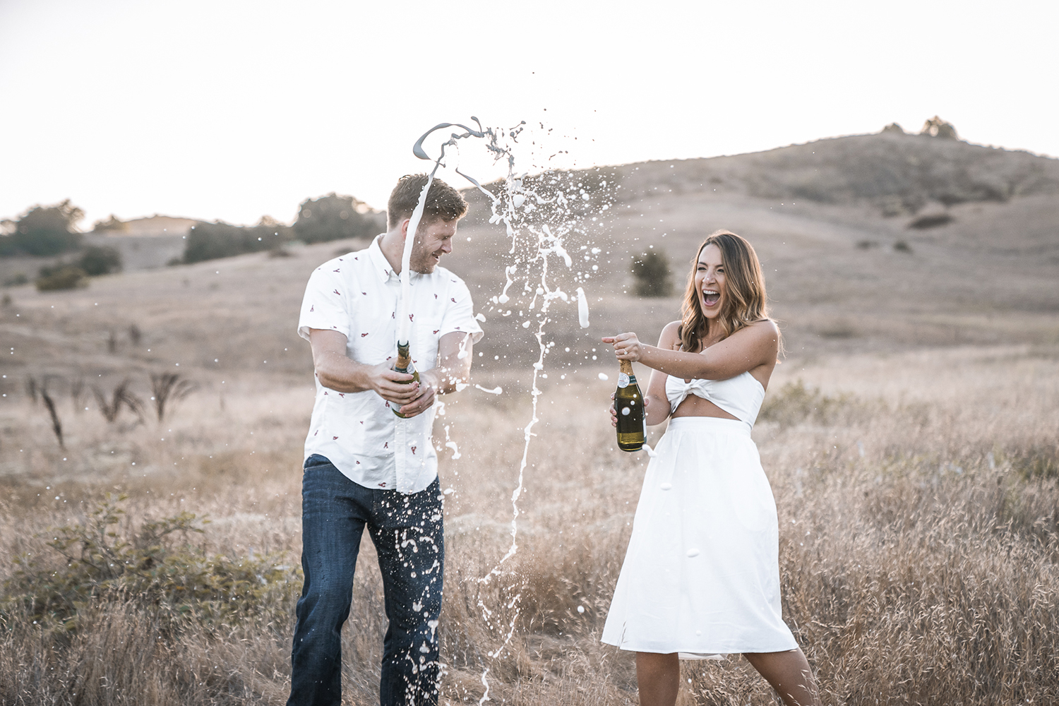 Engagement Planning / Engagement Session / Wedding Budget Talk / Budget Smarts / Lucky Day Events Co. / Ashley Wall Photography / Budgeting for a Wedding / How To Set A Wedding Budget / Champagne Popping Engagement Picture