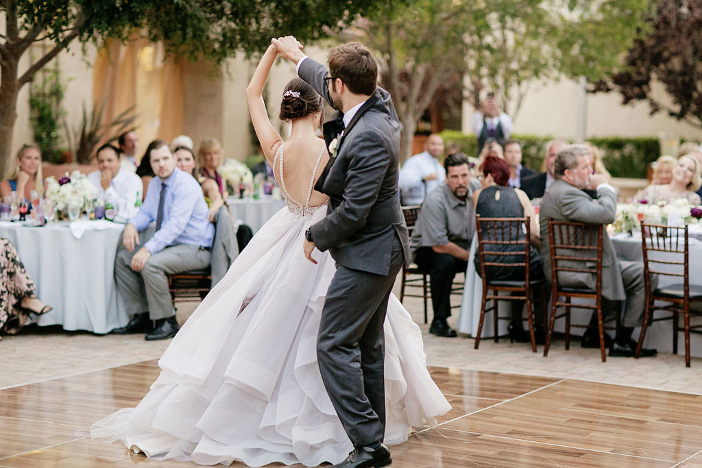 Hayley Paige Lilac Dori dress at Serra Plaza Wedding by Lucky Day Events Co. and Chard Photography