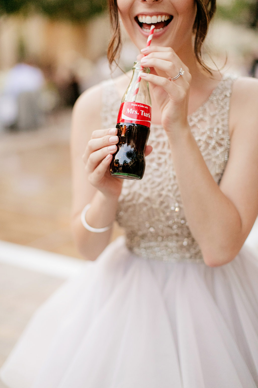 Custom coke bottle escort card at Serra Plaza wedding by Lucky Day Events Co. and Chard Photography