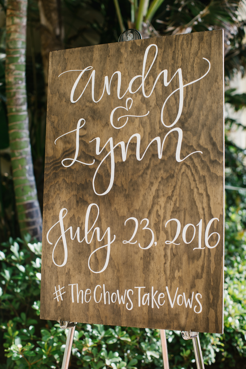 Wooden calligraphy sign
