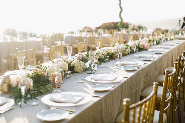 Ritz Carlton Blush and Gold Wedding Table