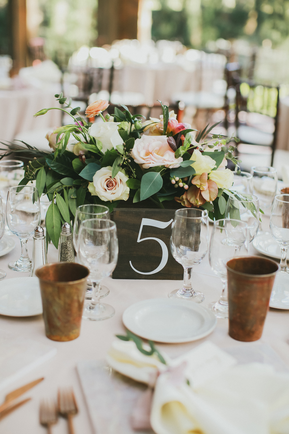 Lucky Day Events Co. // Calamigos Ranch Wedding // Forestry Films // Moody Dusty Rose Copper Romantic Wedding // Wooden Signage // Vintage Wedding