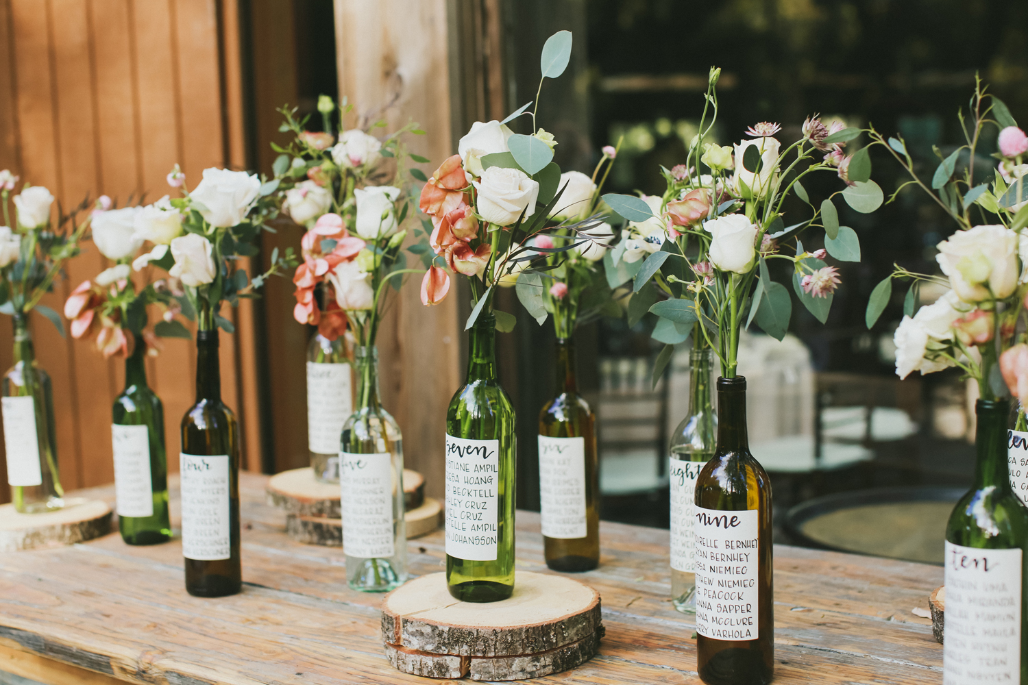 Lucky Day Events Co. // Calamigos Ranch Wedding // Forestry Films // Moody Dusty Rose Copper Romantic Wedding // Wooden Signage // Vintage Wedding // Escort Cards // Place Cards