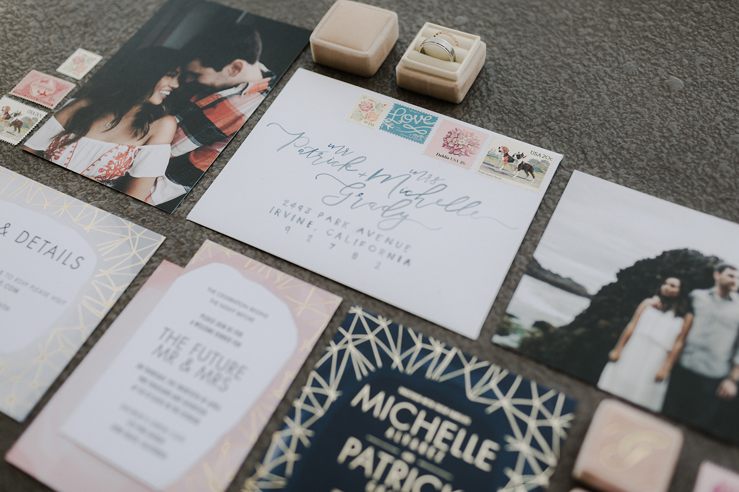 moody invitations wedding