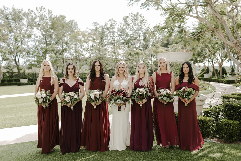 Merlot Marsala Bridesmaids Dresses