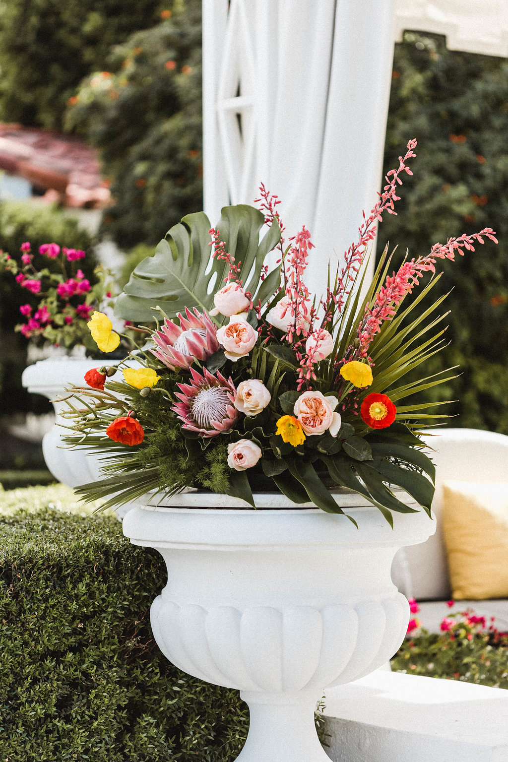 Avalon Palm Springs Wedding Bright Flowers