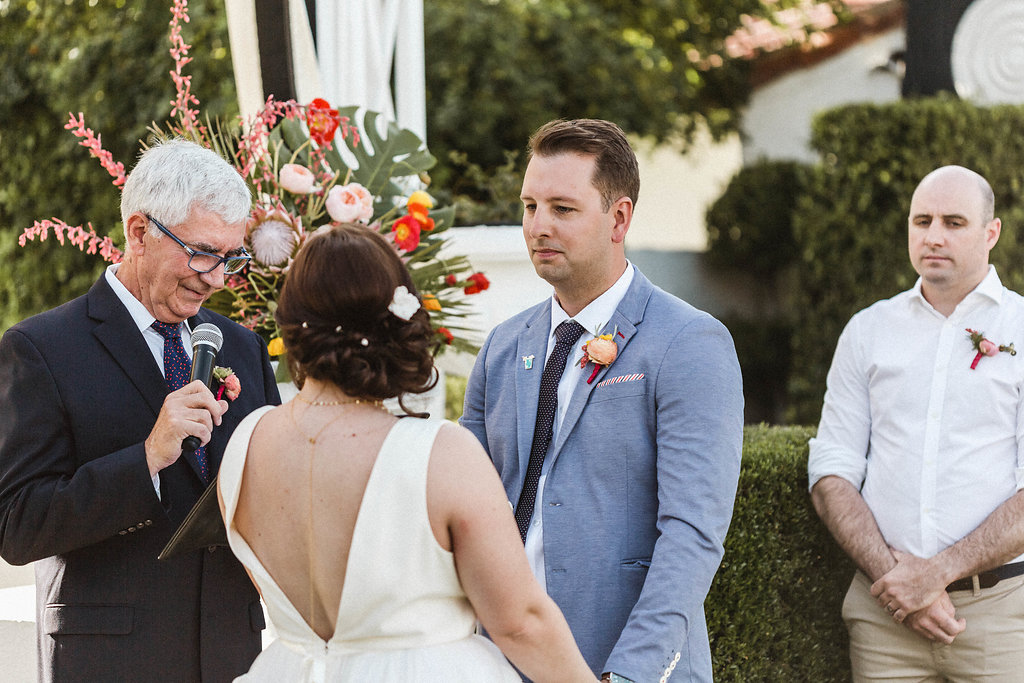 Avalon Palm Springs Modern and Bright Wedding Ceremony