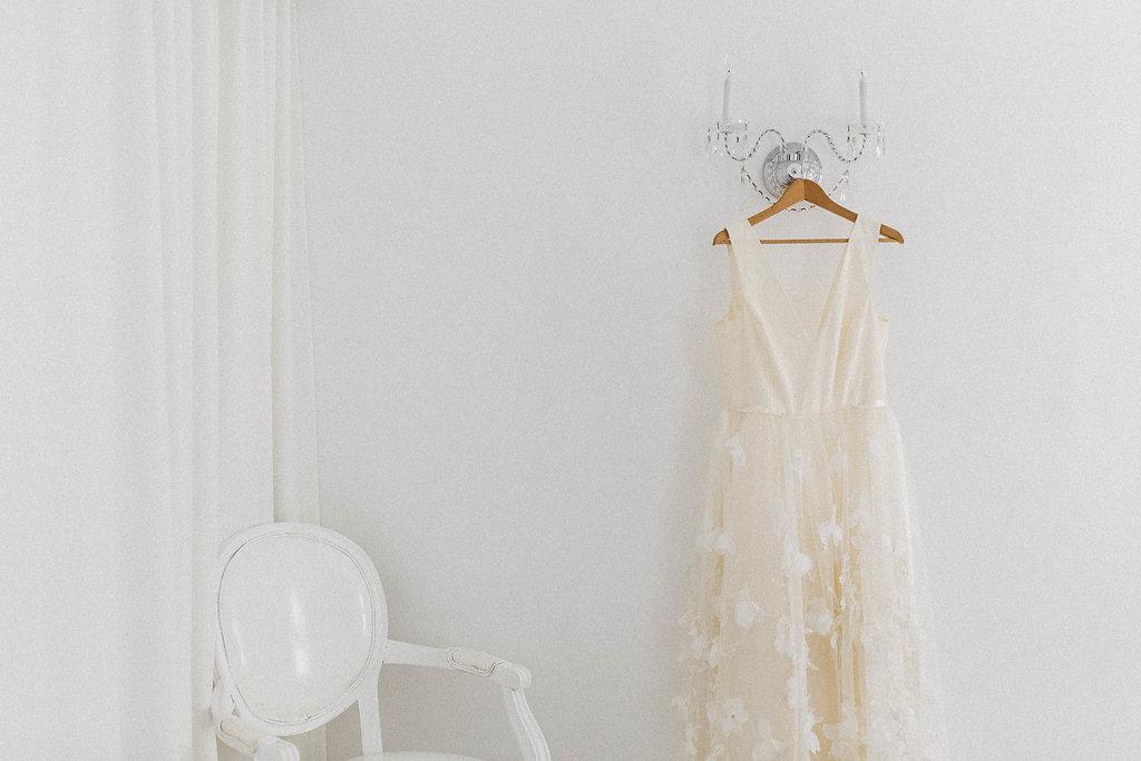 White hanging dress at Avalon Palm Springs Wedding