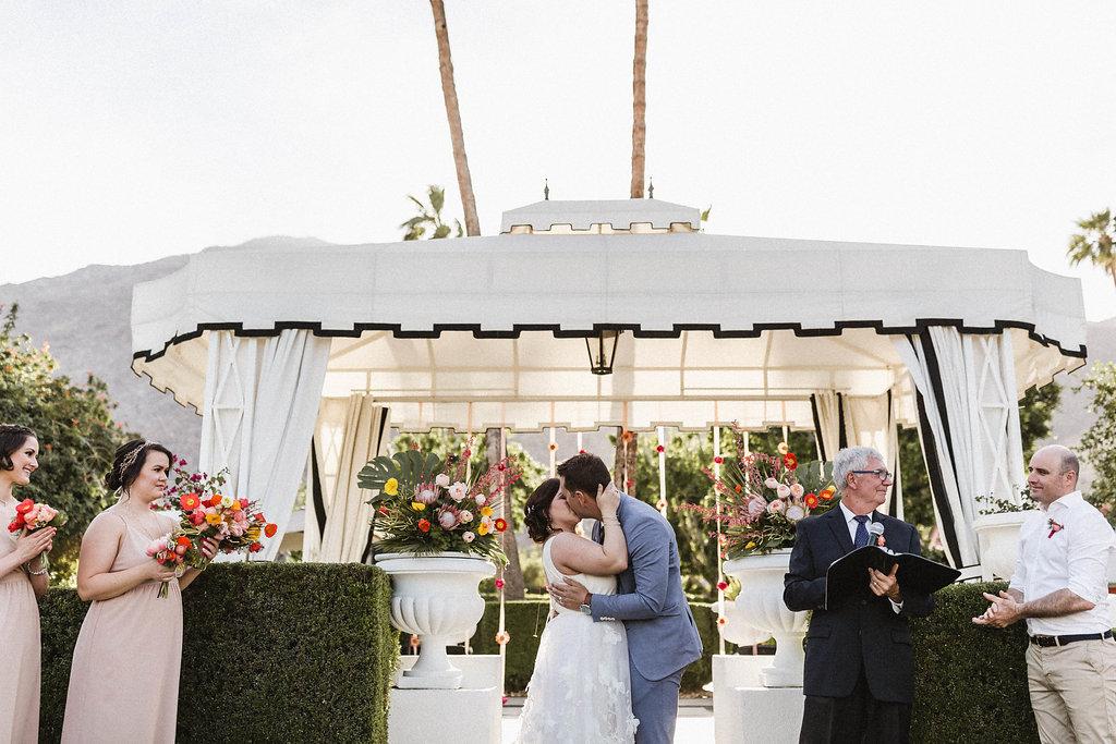 Avalon Palm Springs Modern and Bright Wedding Ceremony