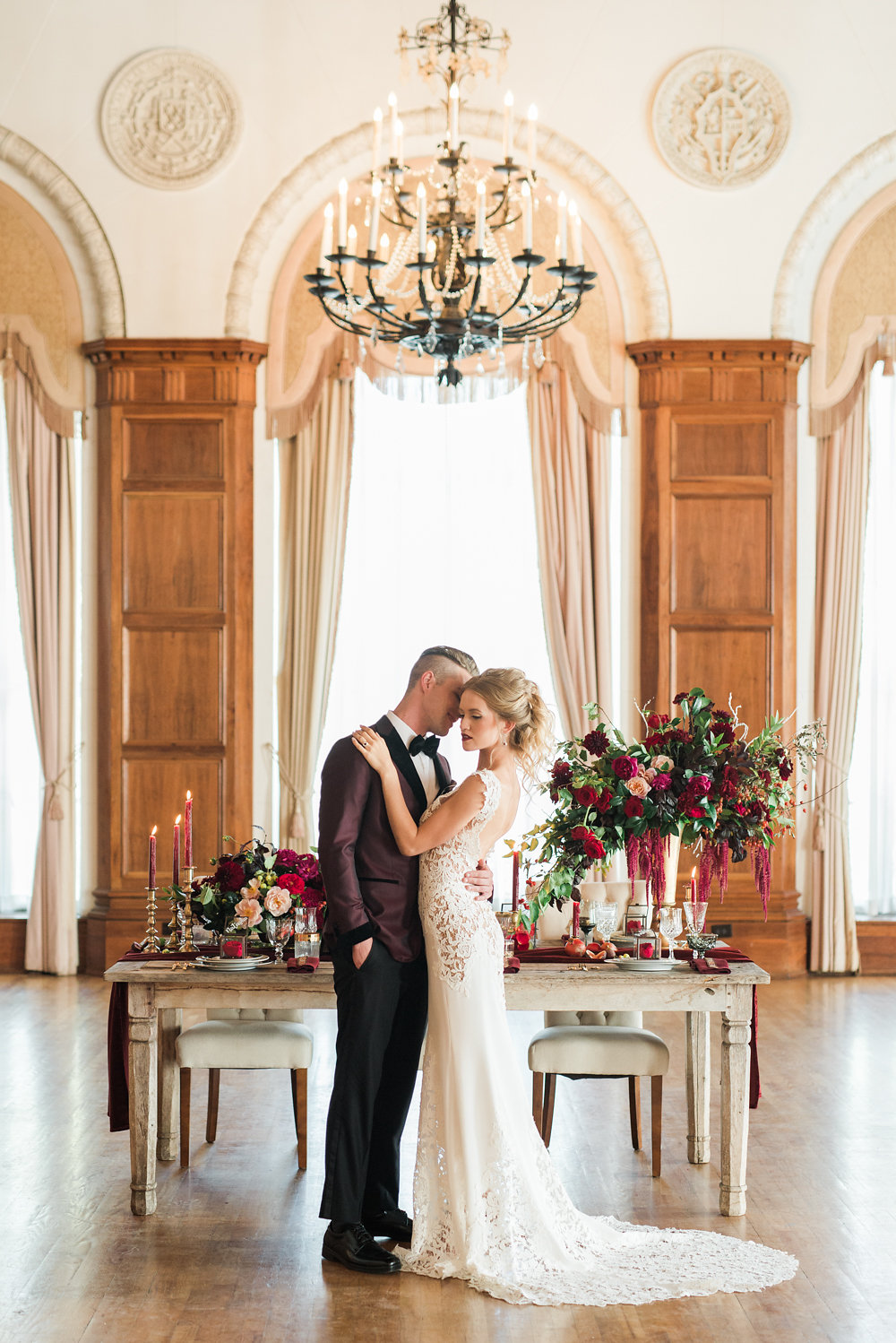 Modern Burgundy Russian Inspired Shoot // Anna Karenina // The MacArthur LA // Anya Kernes Photography // Lucky Day Events Co.