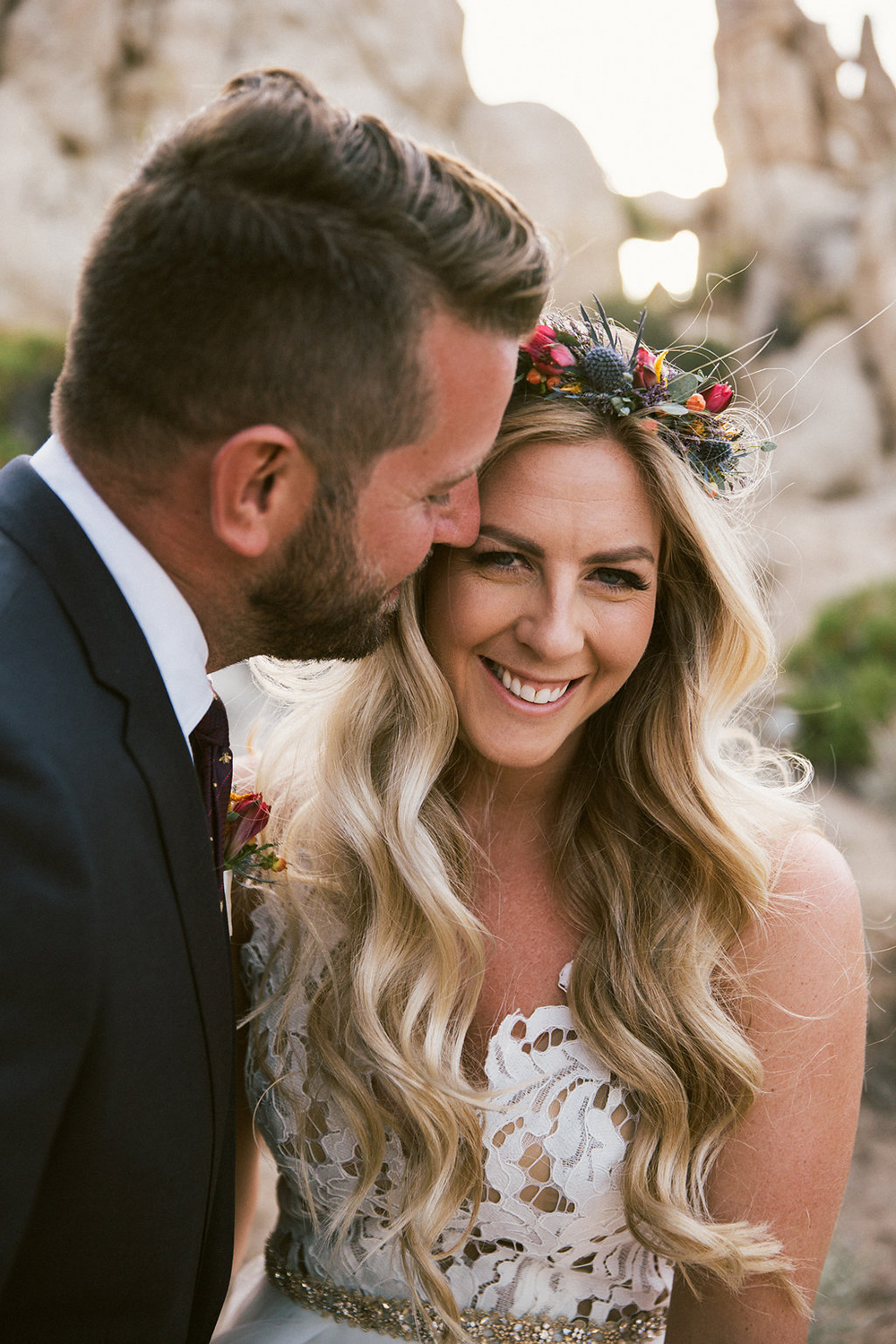 bohemian, colorful and eclectic desert wedding