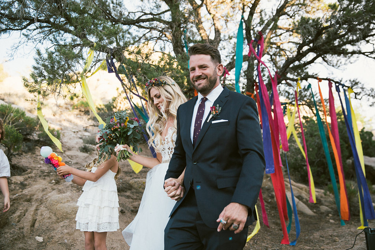 Kaede + Jason // Jbohemian, colorful and eclectic desert weddingoshua Tree Wedding // Stefanie Vinsel Photography // Desert Boho Wedding Festival // Lucky Day Events Co. // Desert Wedding