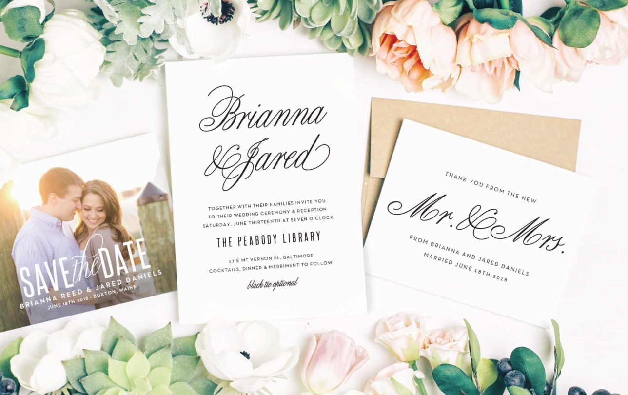 Basic Invite x Lucky Day Events Co. // Custom Wedding Suite // Wedding Stationery // Wedding Invites