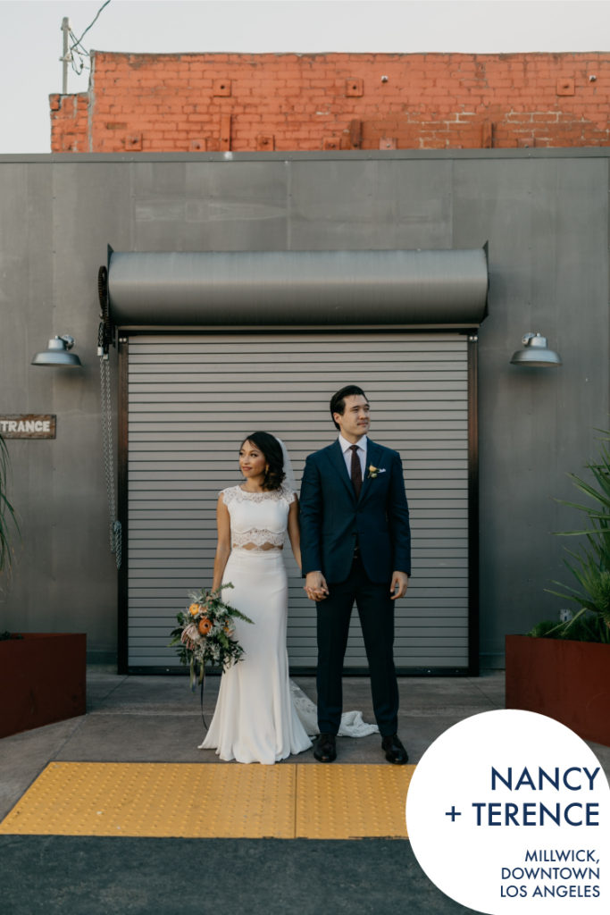 Nancy + Terry's Modern Millwick Wedding / Los Angeles Wedding / DTLA Wedding / Downtown Los Angeles Wedding / Rachel Gulotta Photography / Lucky Day Events Co. / Arts District Wedding