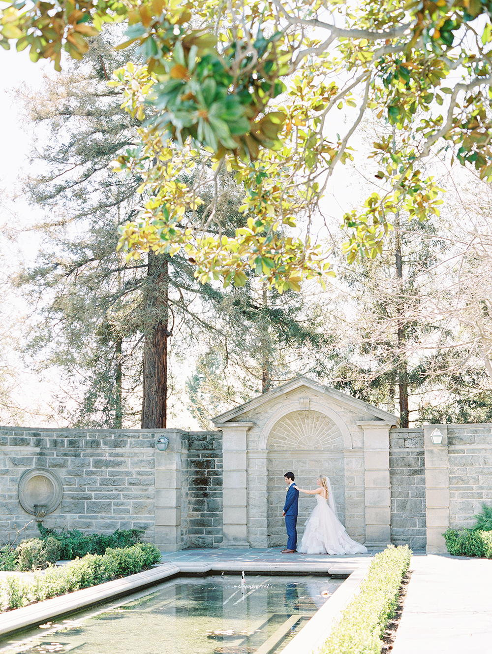 Romantic and Classic Greystone Mansion Wedding by Lucky Day Events Co. x Jordan Galindo Photography // First Look photos