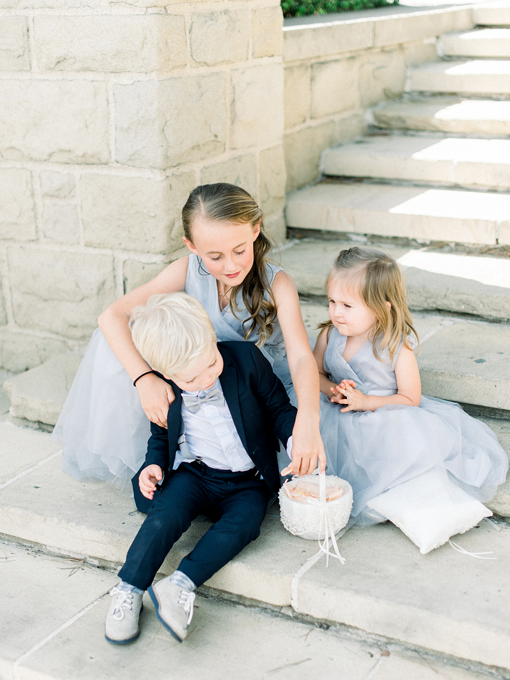 Romantic and Classic Greystone Mansion Wedding by Lucky Day Events Co. x Jordan Galindo Photography // Ring Bearer and Flower Girls