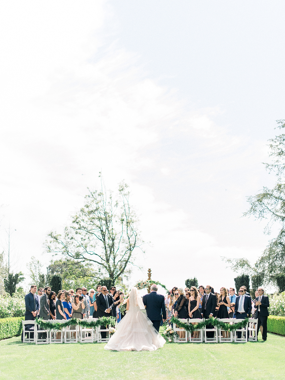 Romantic and Classic Greystone Mansion Wedding by Lucky Day Events Co. x Jordan Galindo Photography // Processional