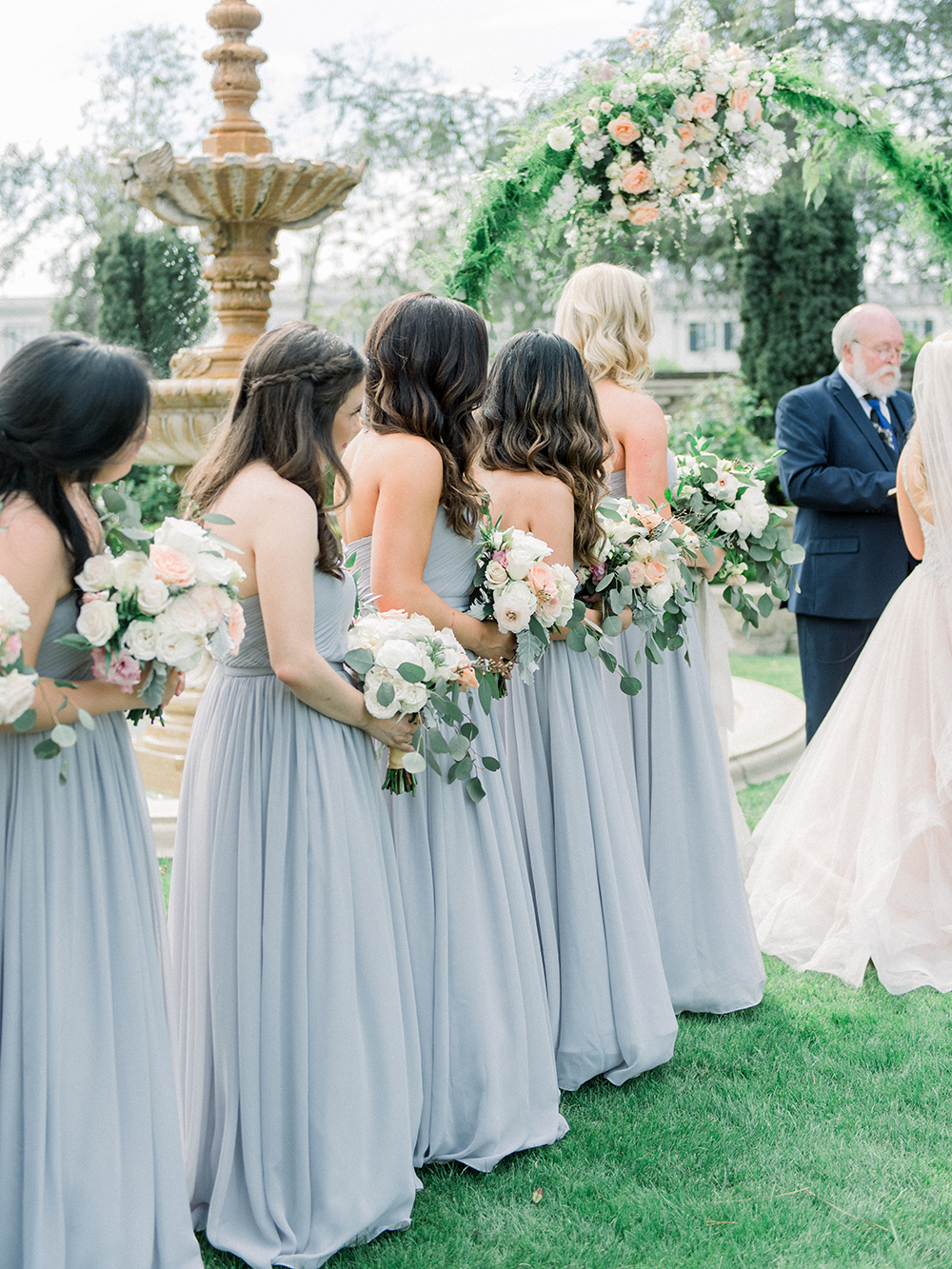 Romantic and Classic Greystone Mansion Wedding by Lucky Day Events Co. x Jordan Galindo Photography // Grey Show Me Your Mumu Bridesmaids