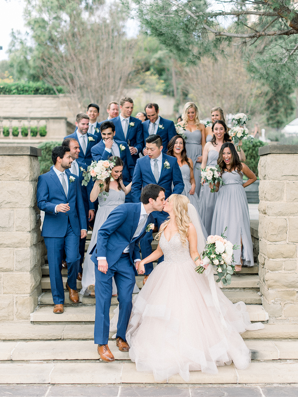 Romantic and Classic Greystone Mansion Wedding by Lucky Day Events Co. x Jordan Galindo Photography // Bridal Party Photos