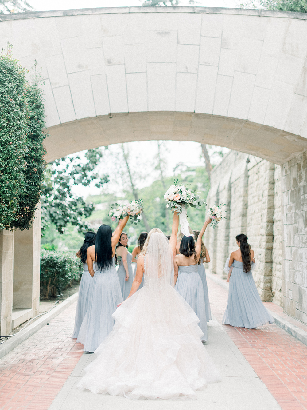 Romantic and Classic Greystone Mansion Wedding by Lucky Day Events Co. x Jordan Galindo Photography // Grey Bridesmaid Dresses