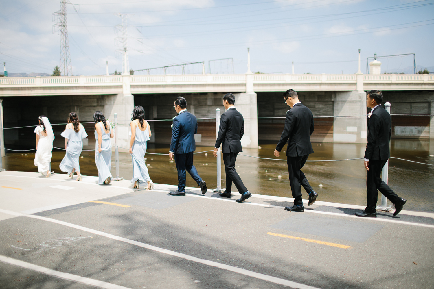 Modern bridal party photos in Los Angeles