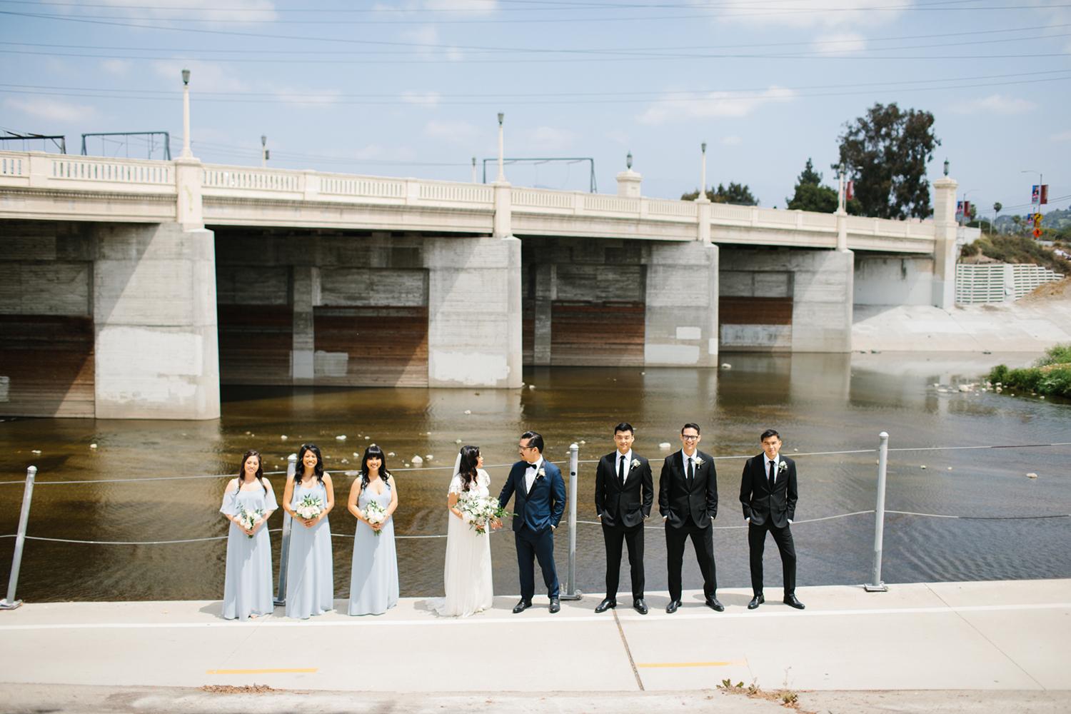 LA wedding photos - modern wedding.