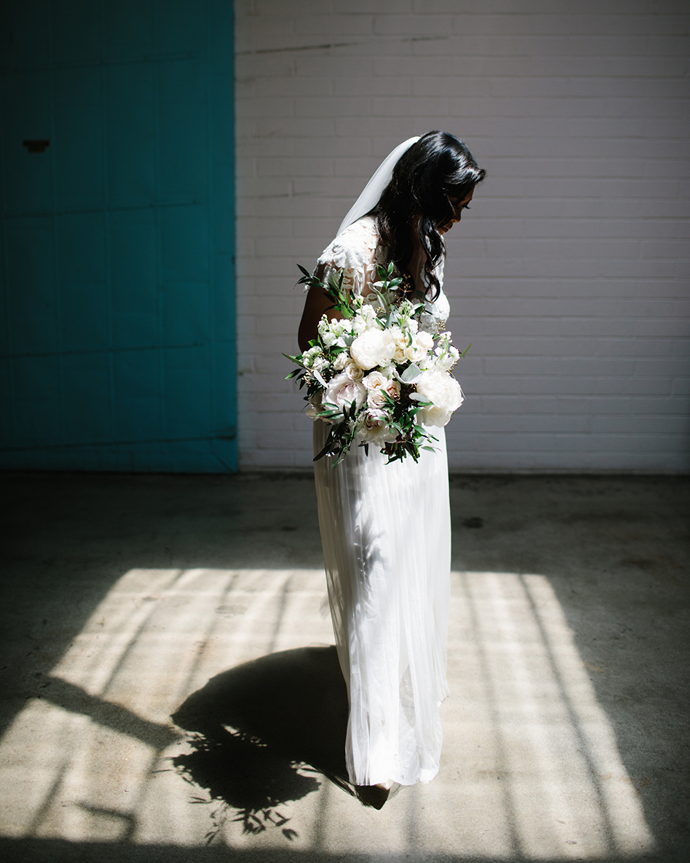 Dramatic wedding photography with shadows in Los Angeles with Lucky Day Events Co.