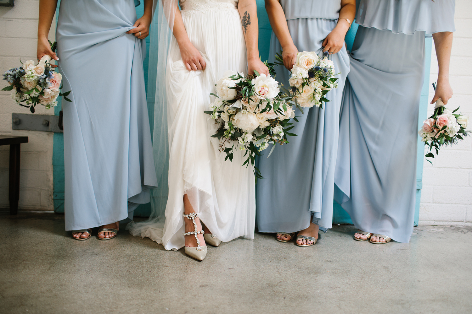 Light Blue Pastel Bridesmaids