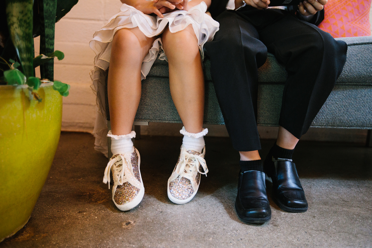 Ringbearer and flower girl shoes