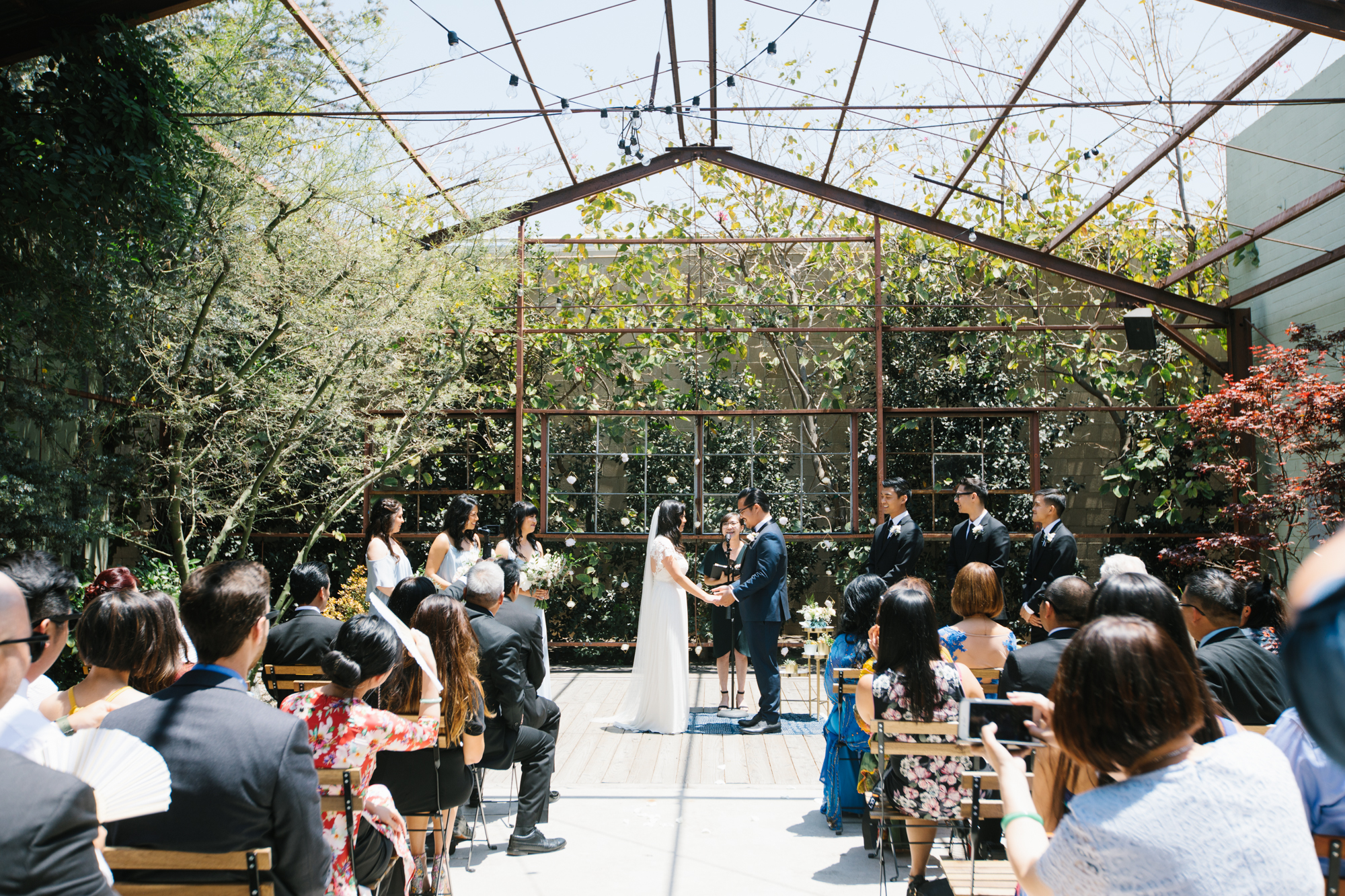 Green and glass ceremony