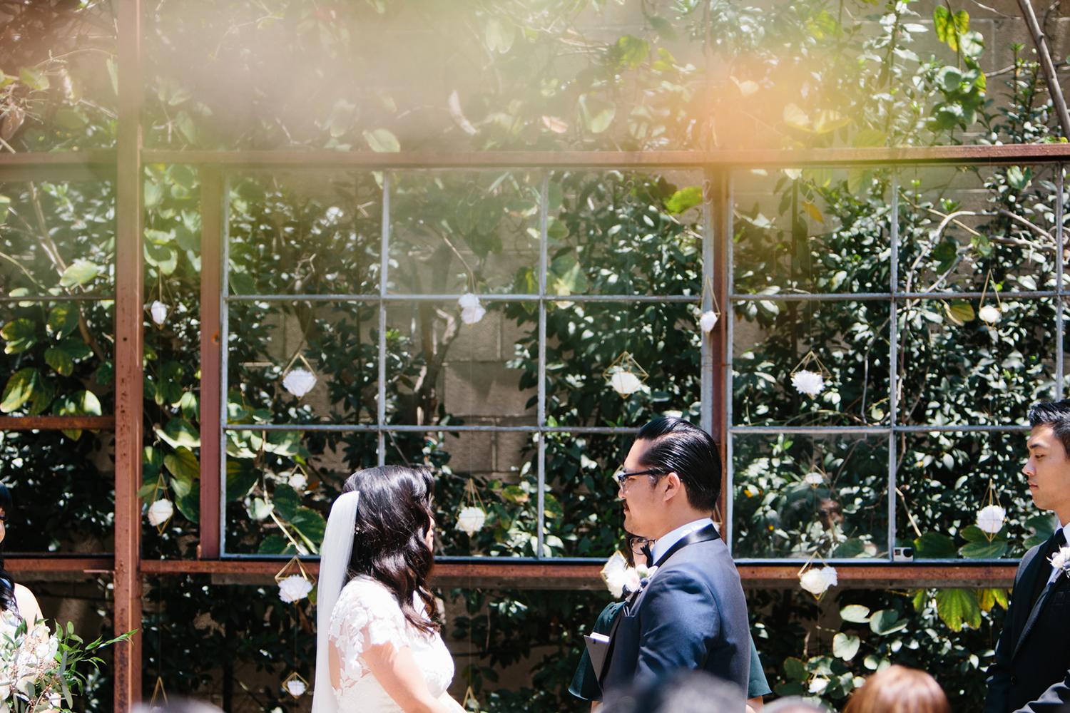 Modern wedding ceremony outdoors in Los Angeles