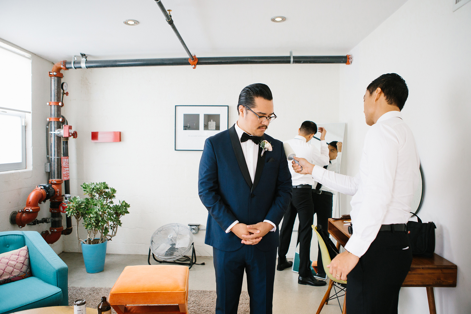 Modern and bright wedding at Los Angeles warehouse by Lucky Day Events Co. and Espresso Weddings