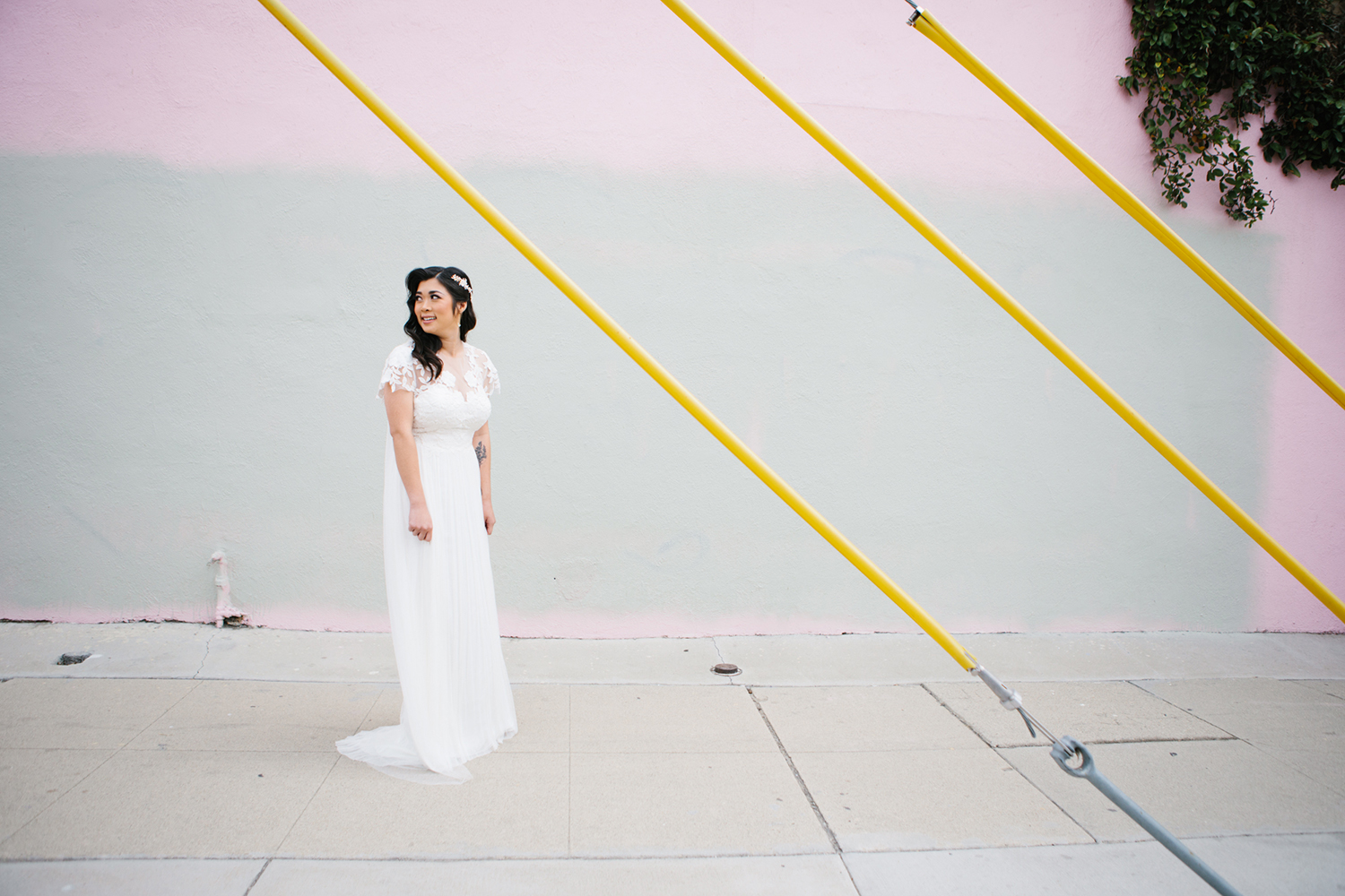 Pastel bridal photos
