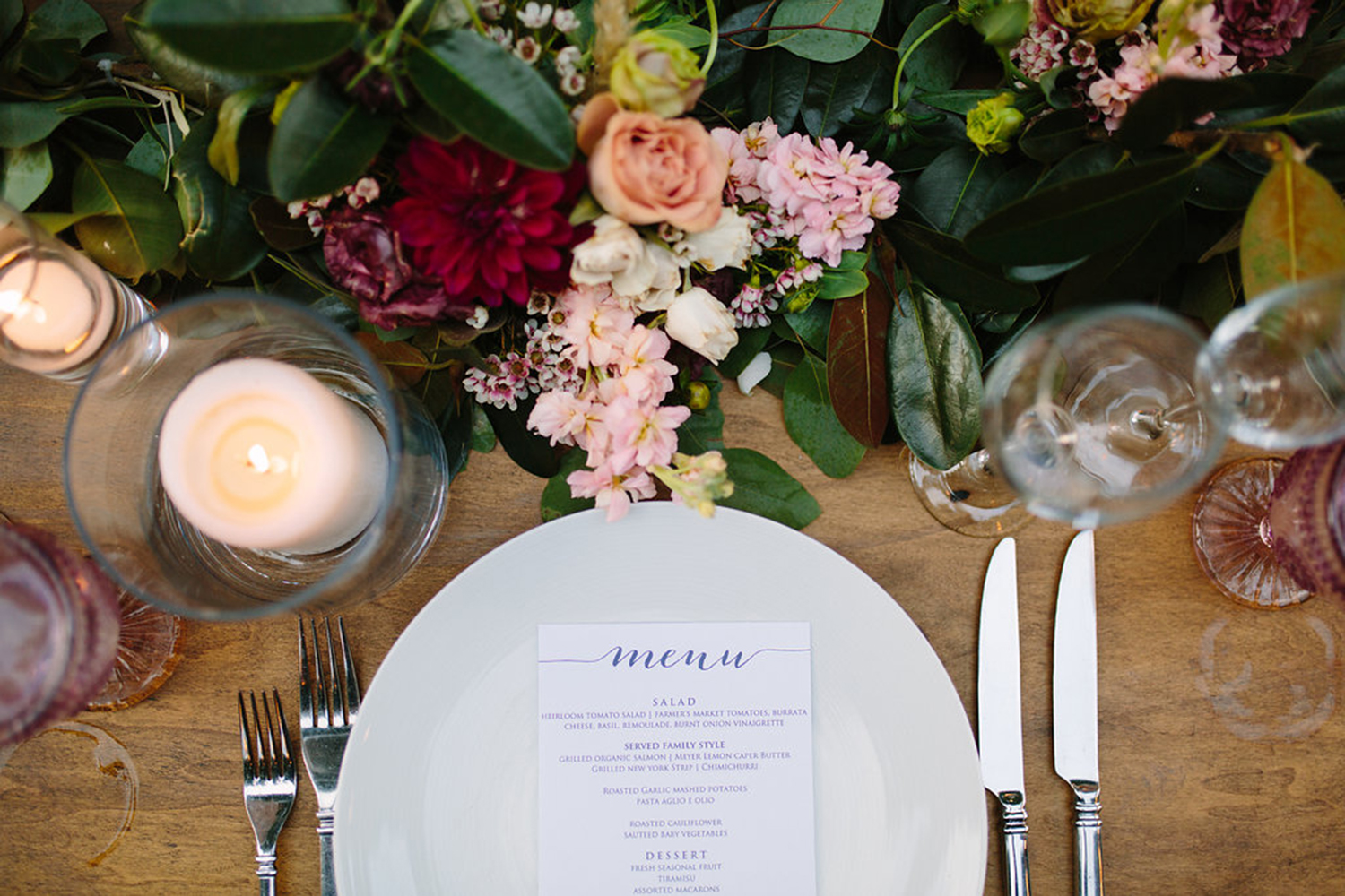 Minimal wedding place setting
