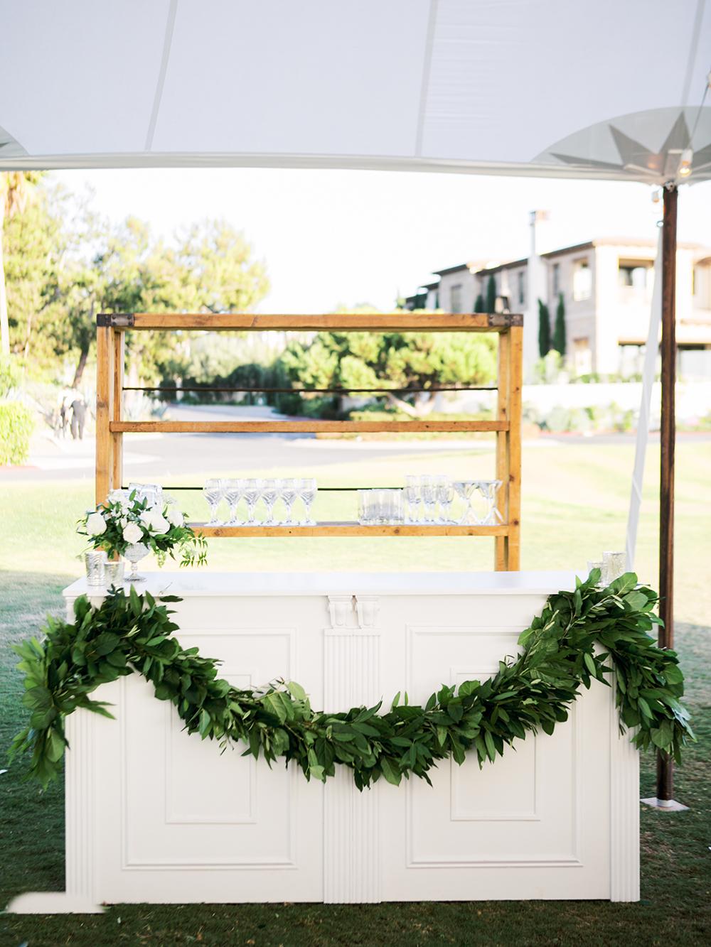 White bar at wedding