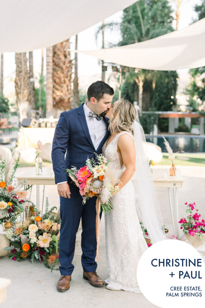 Bright and bohemian Palm Springs wedding by Lucky Day Events Co.