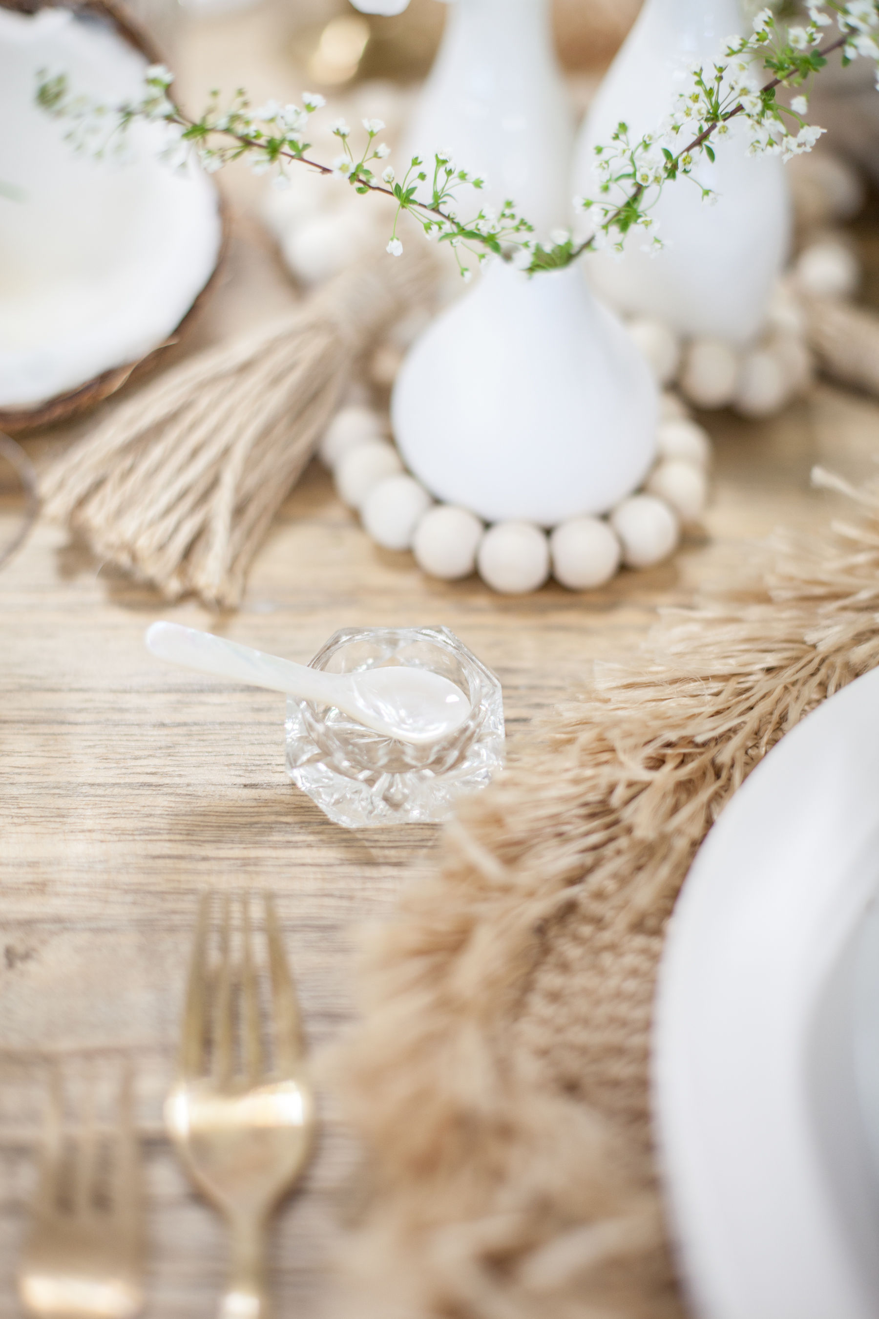 Wooden bead centerpiece