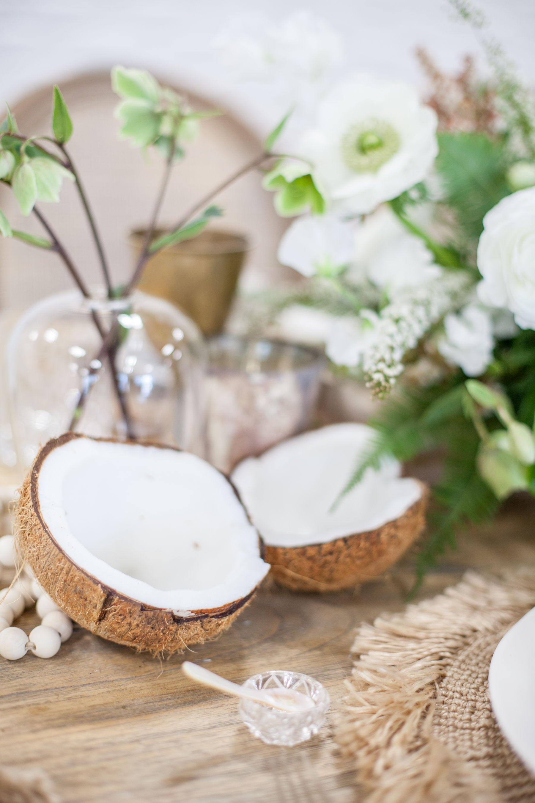 Coconut centerpieces