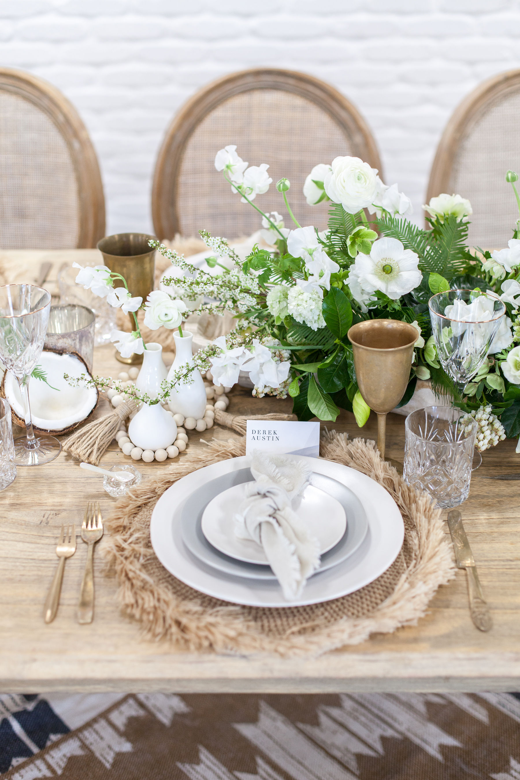Modern coastal table design